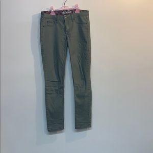 17/21 green denim jeans size 4